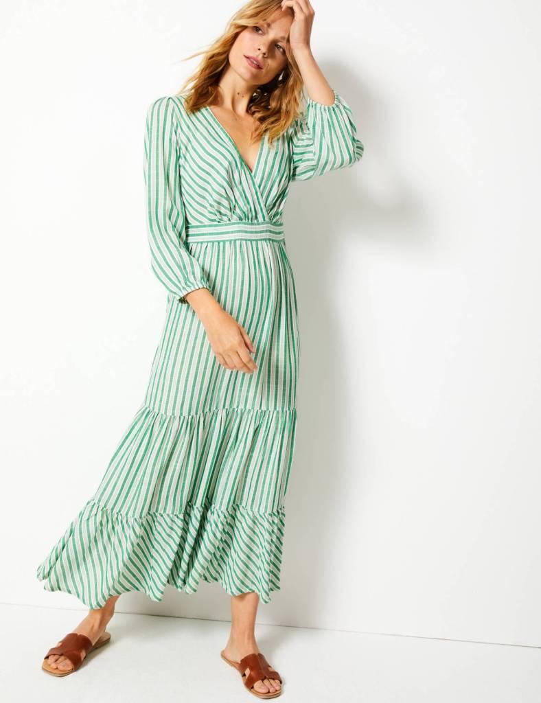 M&S striped waisted maxi dress £49.50