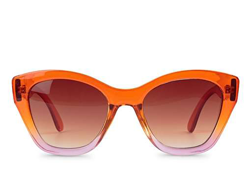 Oliver Bonas Ombre Angled Orange & Pink Sunglasses £24