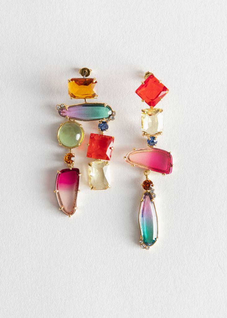 & Other Stories Rainbow Rhinestone Hanging earrings£27
