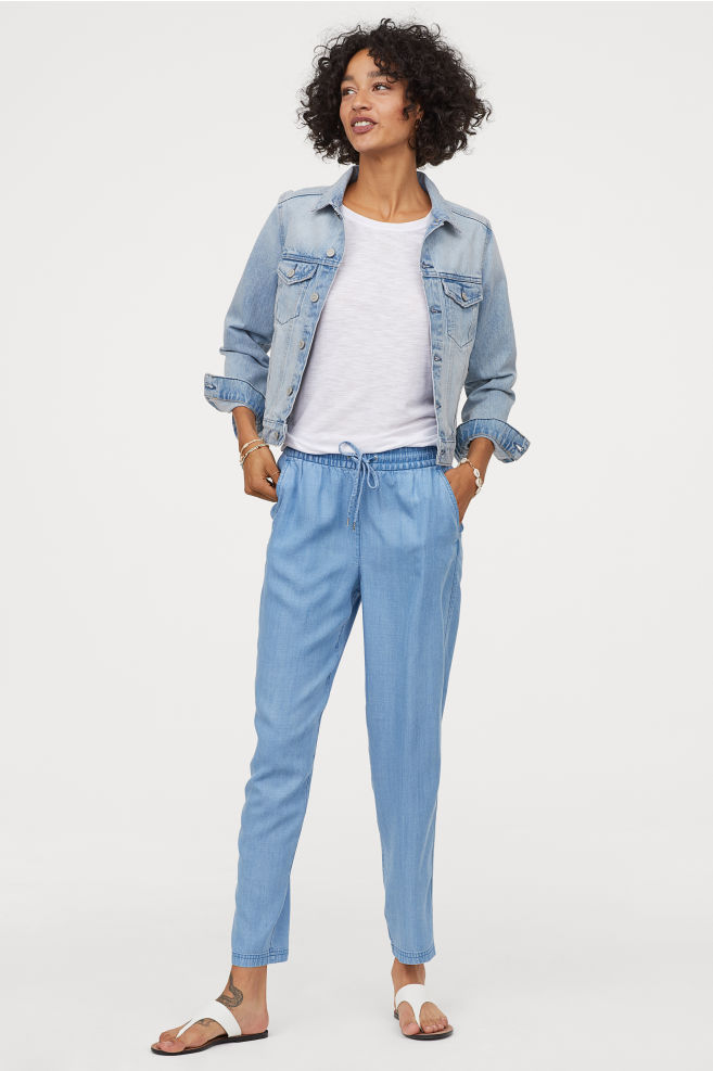 H&M Pull on Lyocell blend trousers £24.99