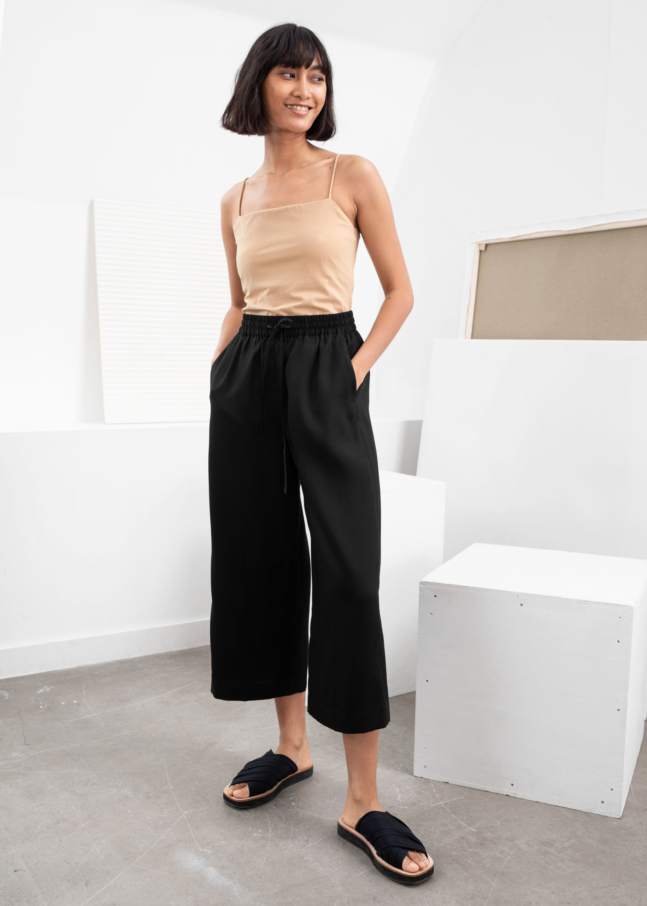 & Other Stories Lyocell drawstring culottes £65