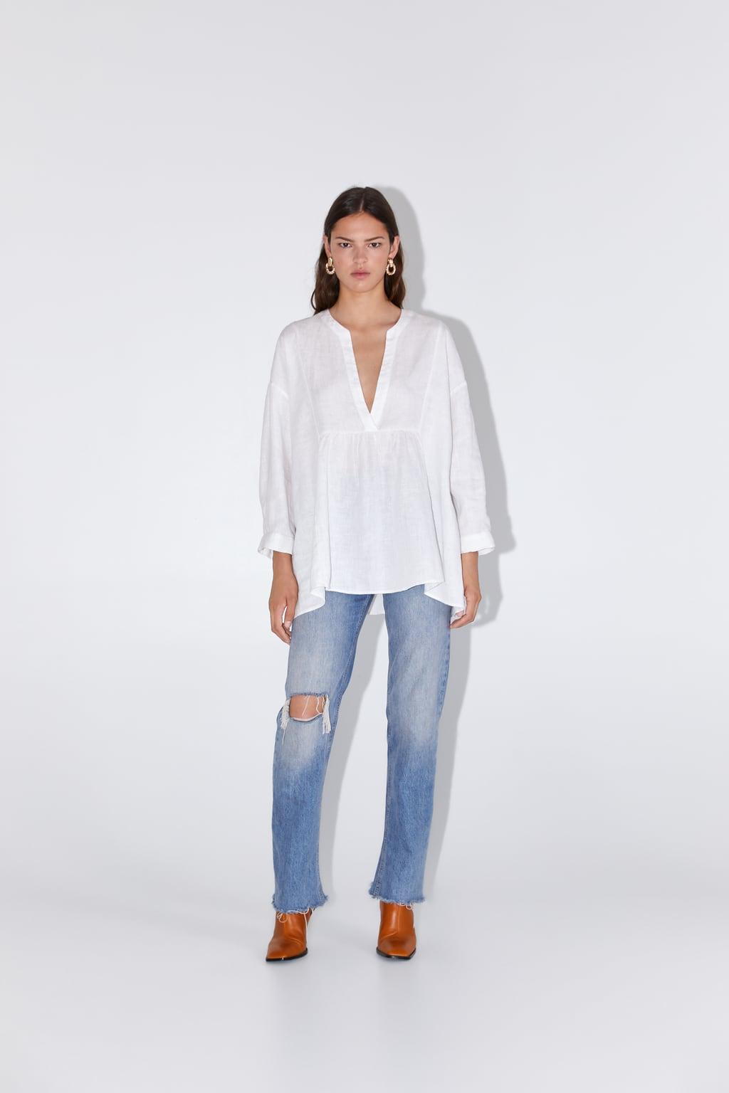 Zara Oversized Linen Blouse £29.99