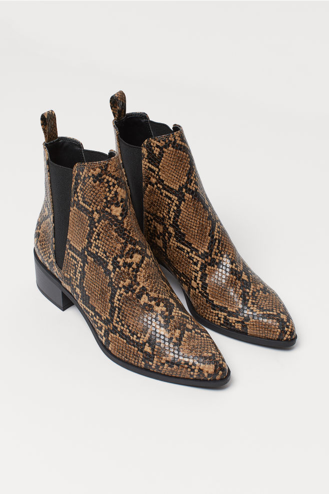 H&M Ankle Boots in Light BrownSnakeskin pattern £34.99