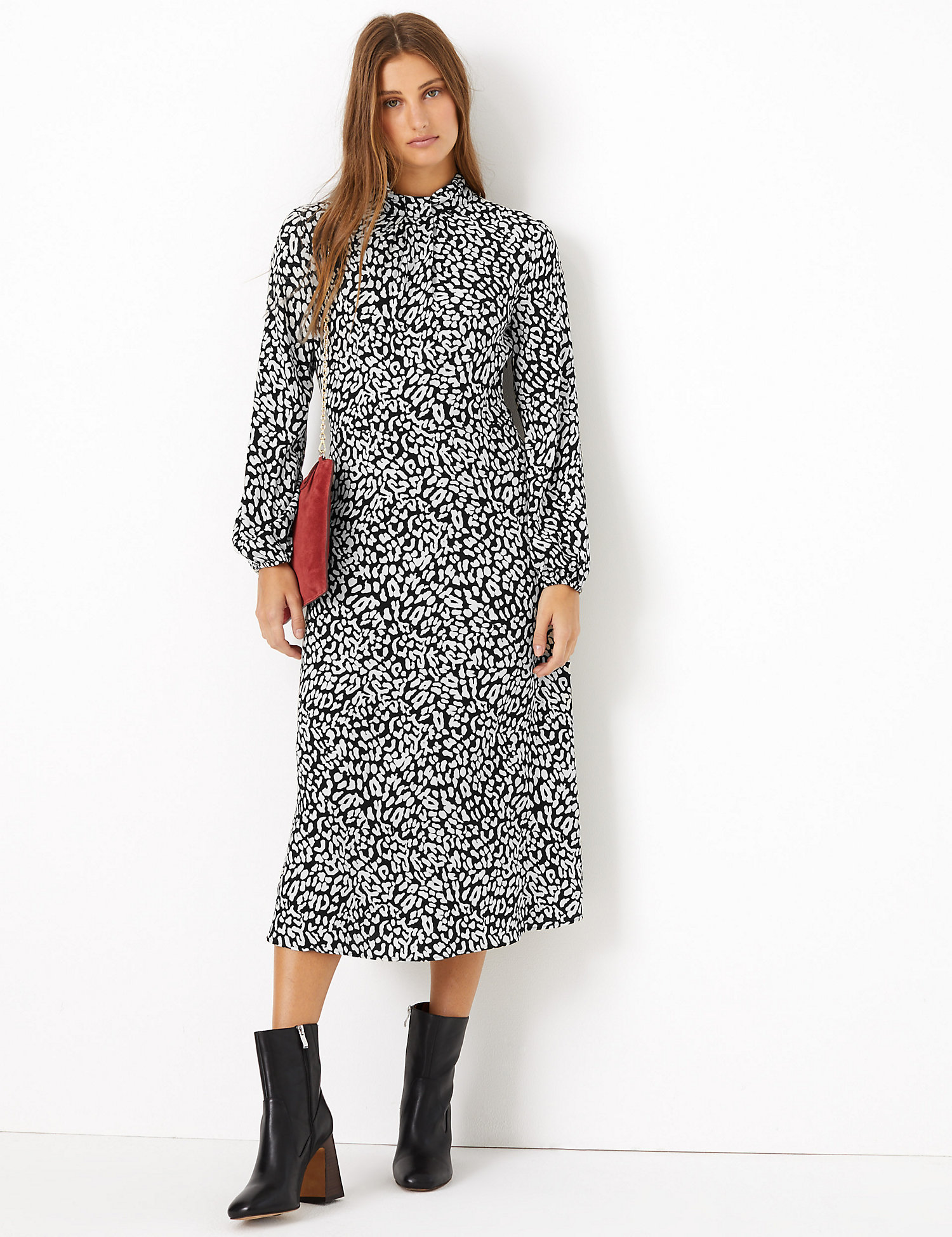 M&S Animal Printed relaxed midi dress £49.50