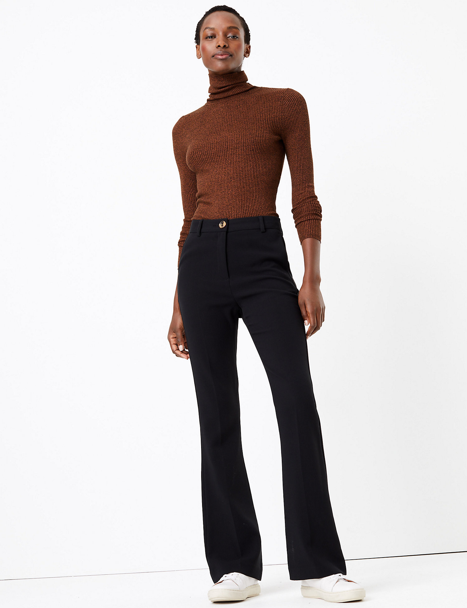 M&S High Waisted Flare trousers £35