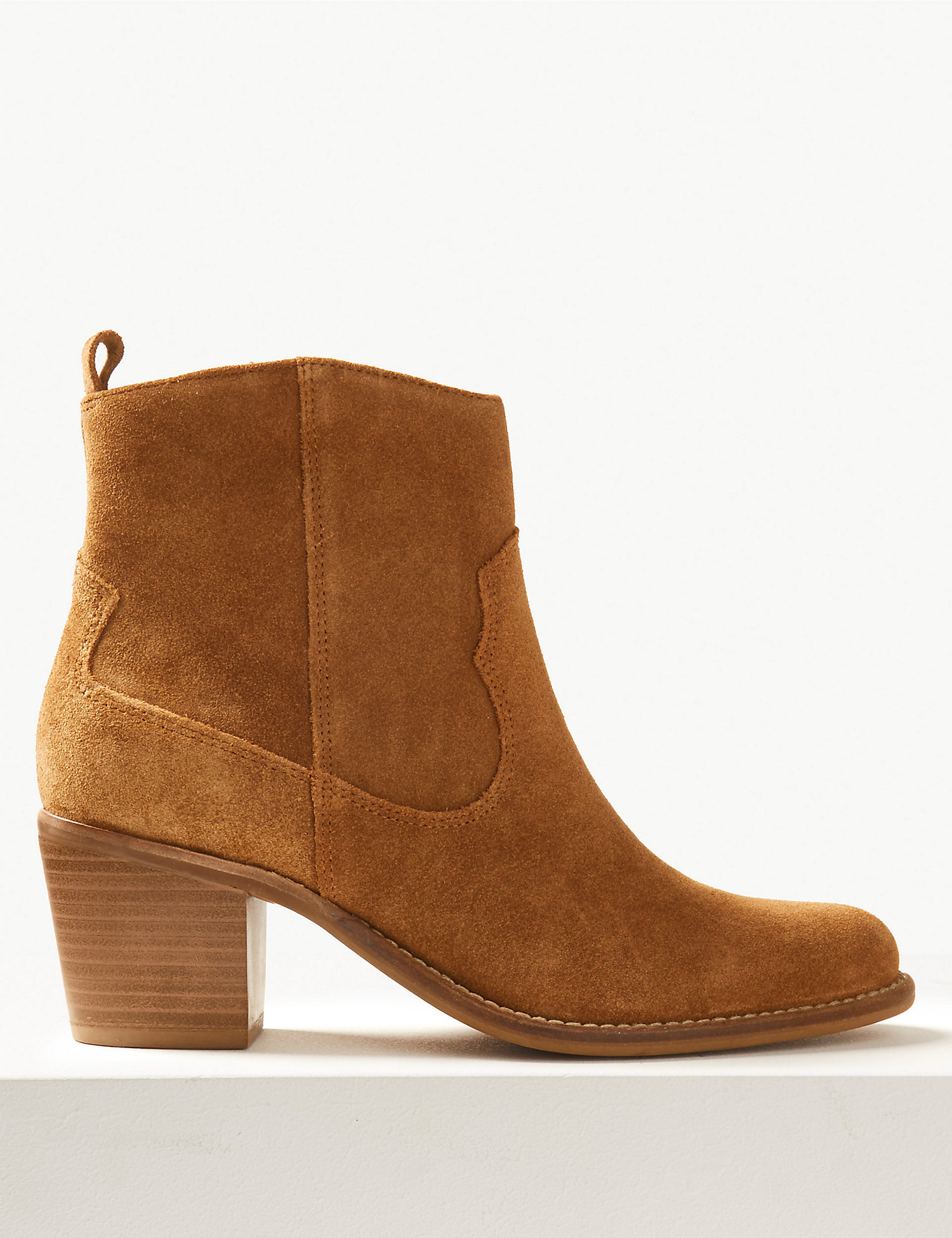 M&S Suede Western Style Boots £49.50