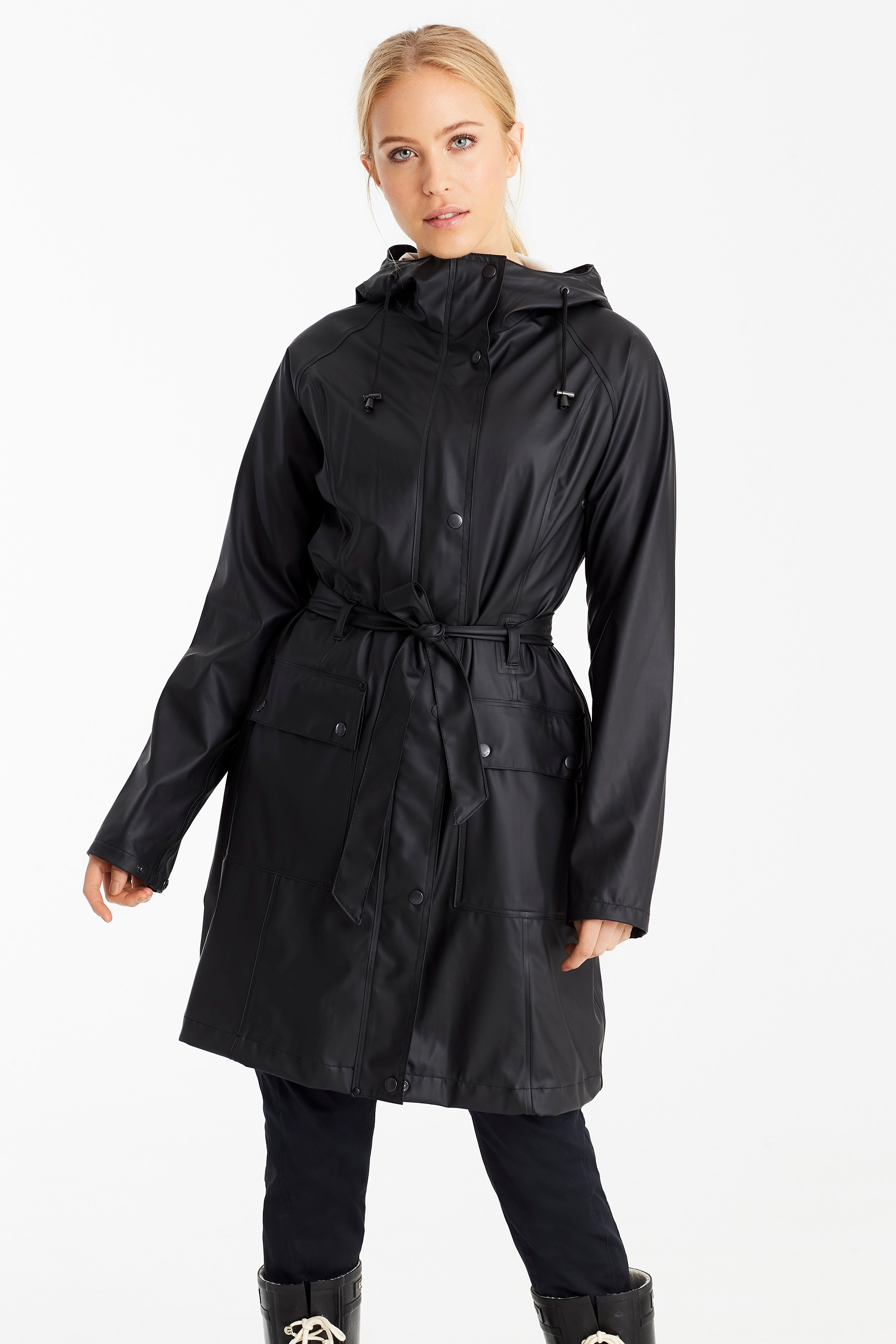 Ilse Jacobson Black Raincoat £110