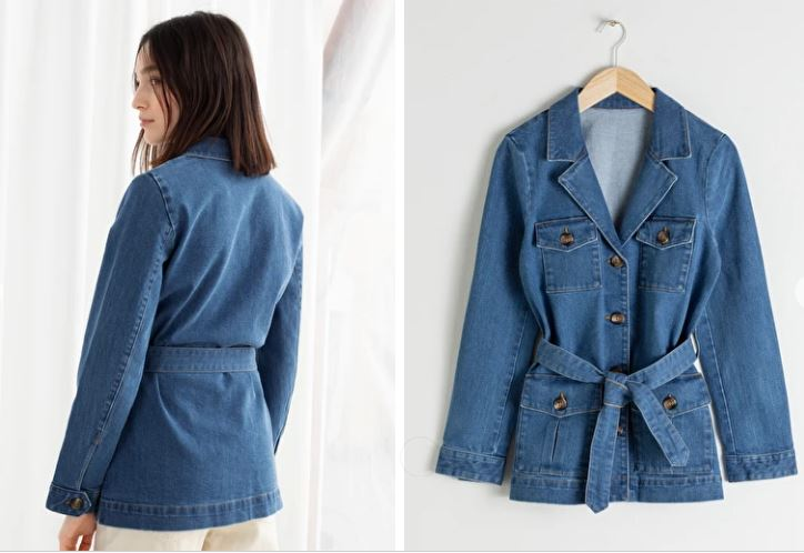 & Other Stories Belted Workwear Denim Jacket £79