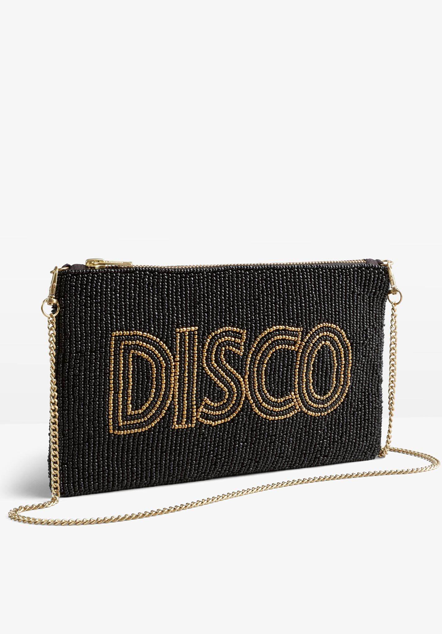 Hush Disco Beaded Clutch £55