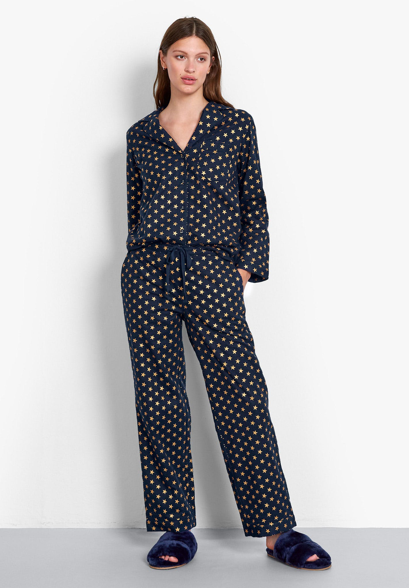 Hush Gold Star Flannel Pyjamas £55