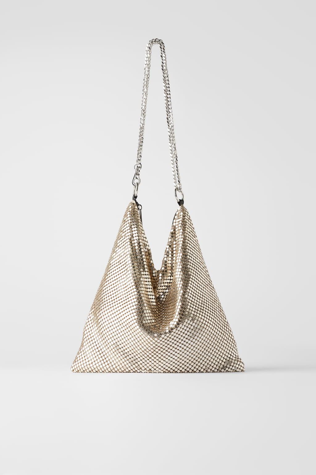 Zara Metallic Mesh Cross body bag £29.99