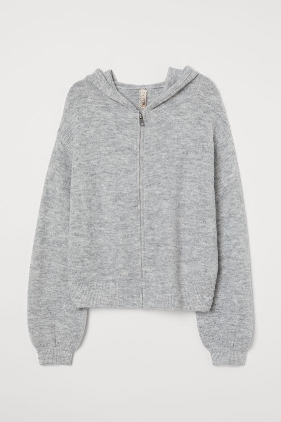 H&M Fine Knit Hooded jacket £24.99