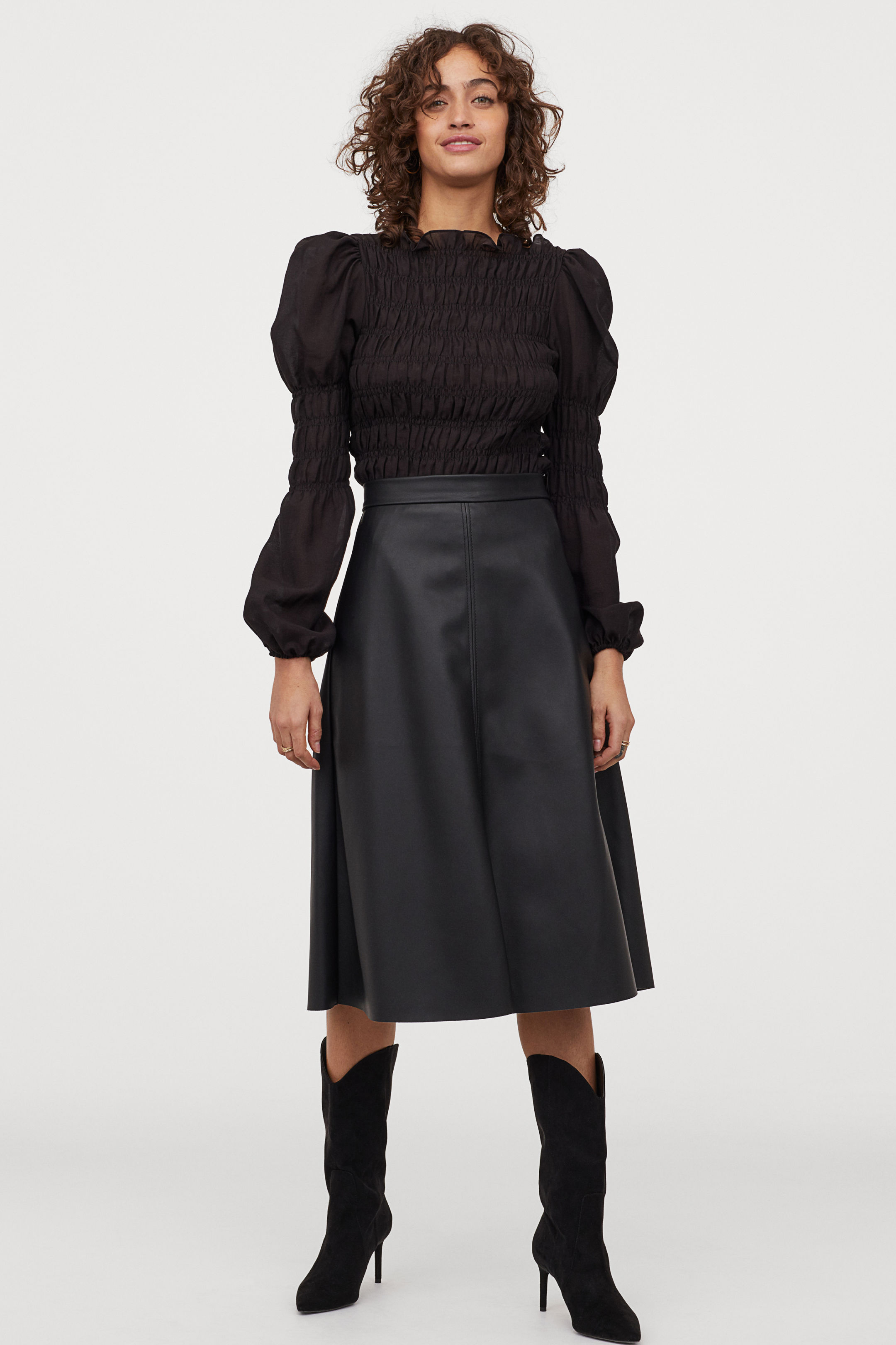 H&M Imitation leather skirt £19.99
