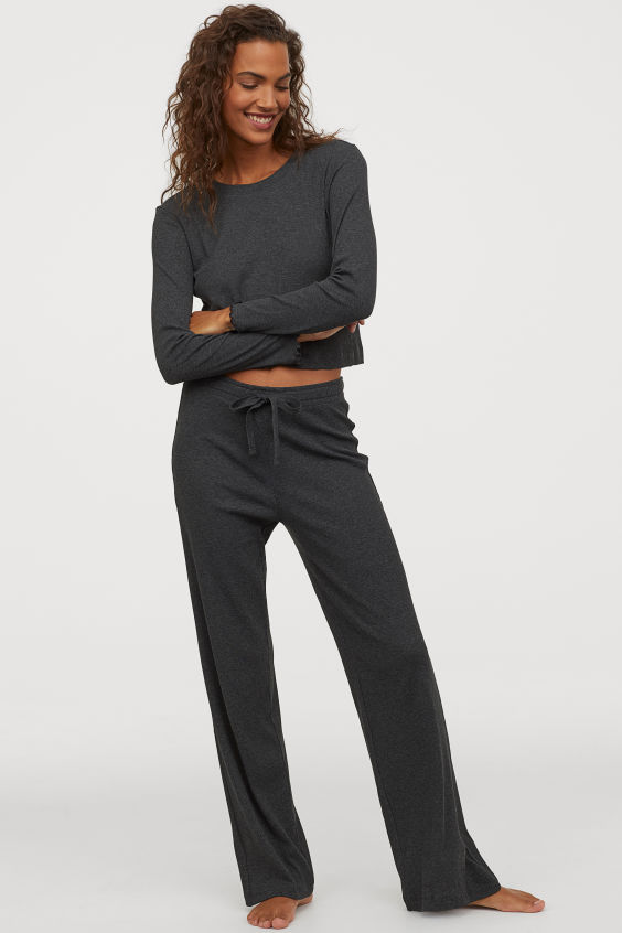 H&M Ribbed Jersey Pyjamas £19.99