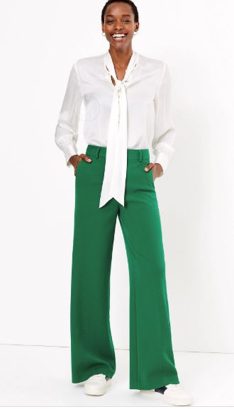 M&S Wide 7 8th length trousers £39