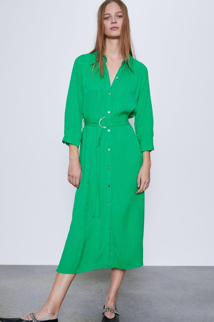 Zara Jacquard Shirt Dress £49.99