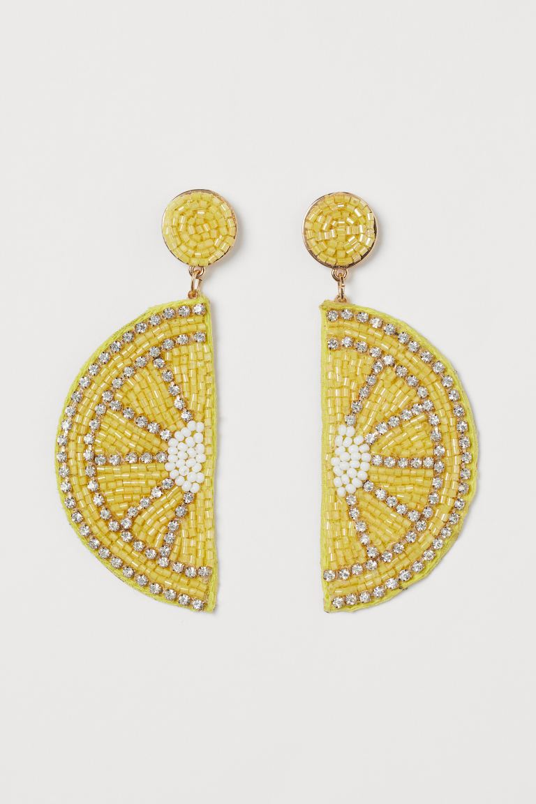H&M Lemon-shaped earrings £9.99