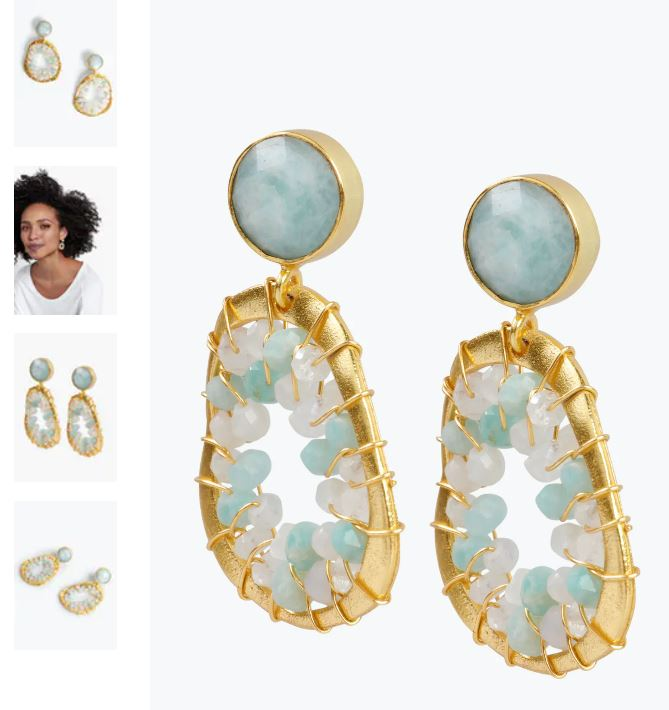 Hush Amazonite Earrings £90