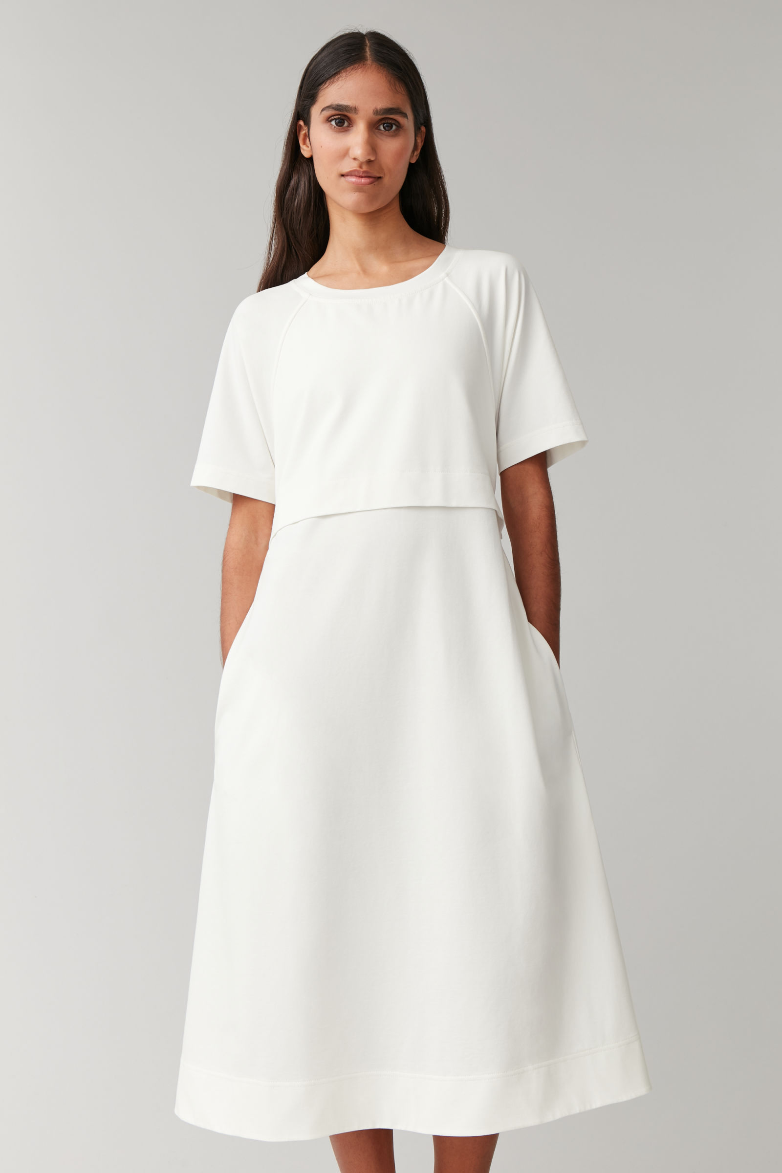 Cos Cotton Dress with Pleated Detail £59