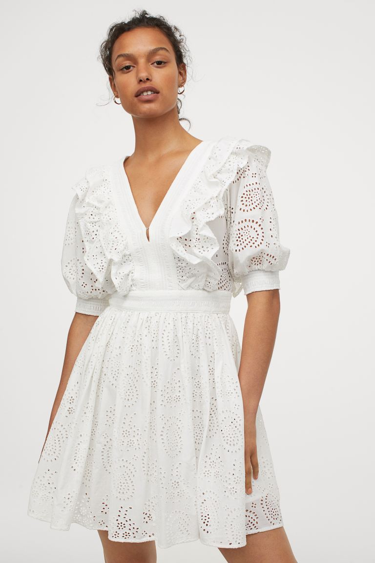 H&M Broiderie Anglais dress £59.99