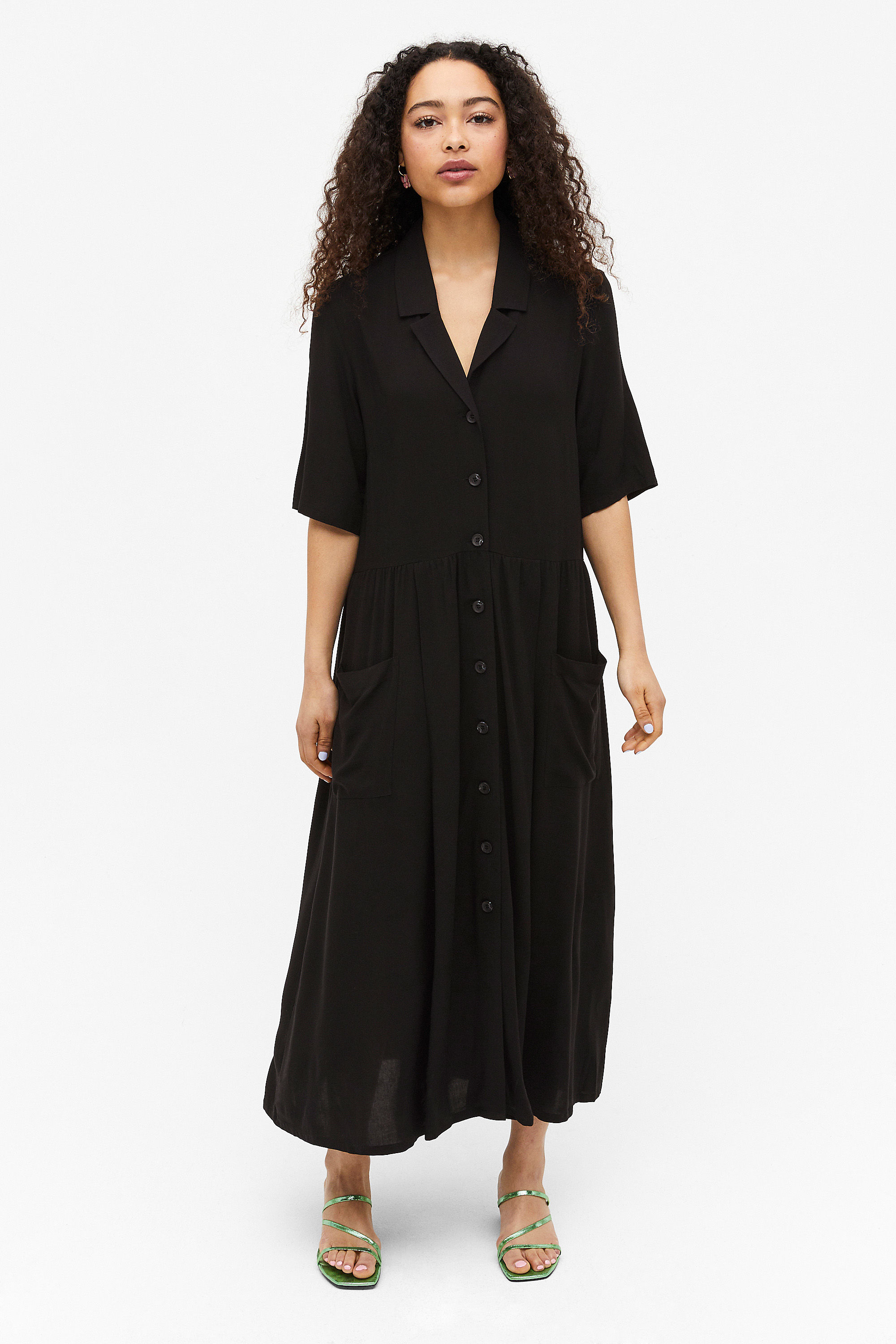 Monki Long Button up shirt dress £35