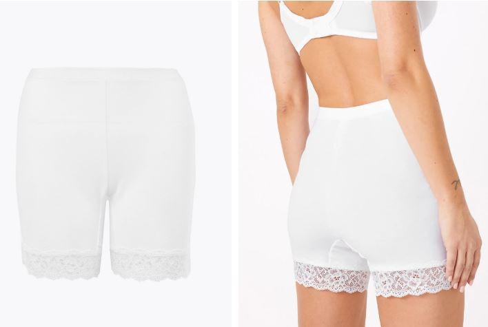 M&S Cotton Rich High Rise Longline shorts £8