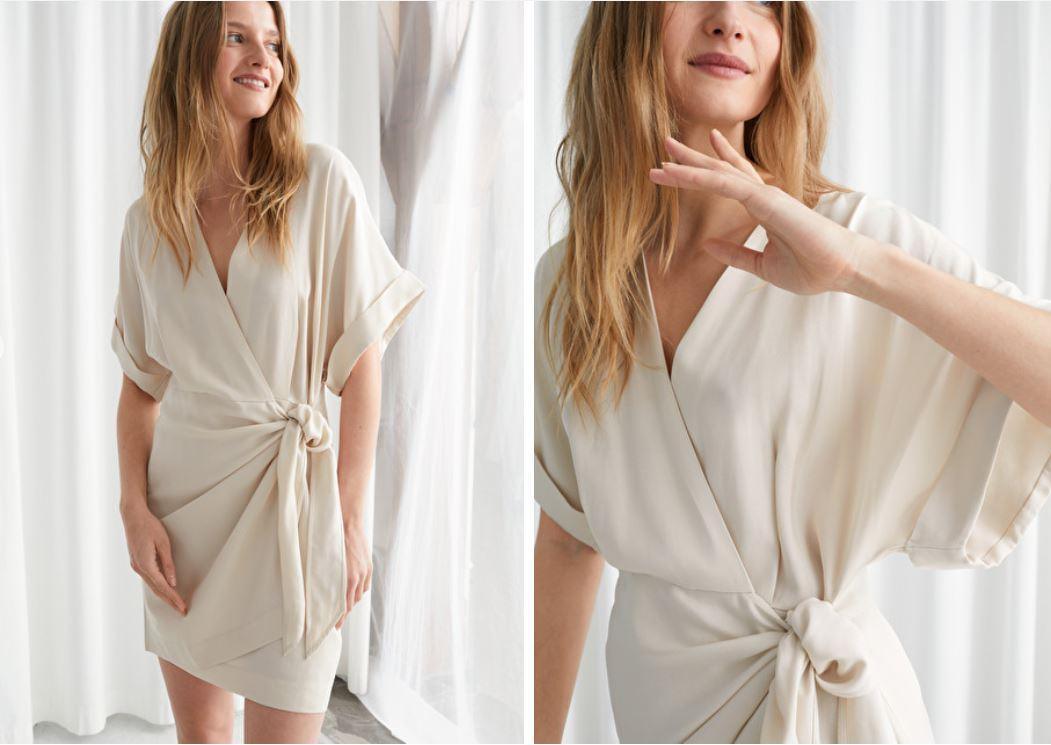 & Other Stories Kimono Wrap Mini Dress £75