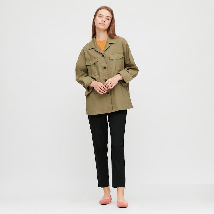 Uniqlo Linen Cotton Blend Shirt Jacket £34.90