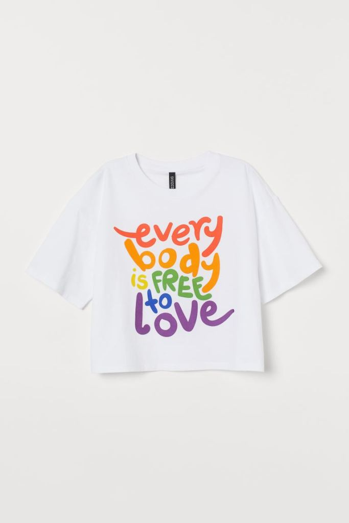 H&M X Pride Short T-shirt £12.99
