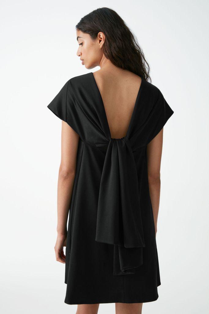 Cos Organic Cotton Aline reverse tie dress £69