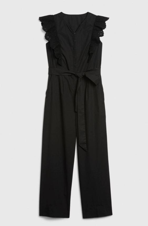 Gap Eyelet Ruffle Sleeve Jumpsuit in Poplin £59.95