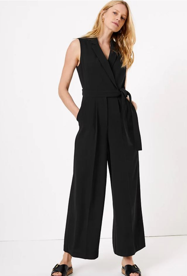 M&S Crepe Sleeveless jumpsuit £59