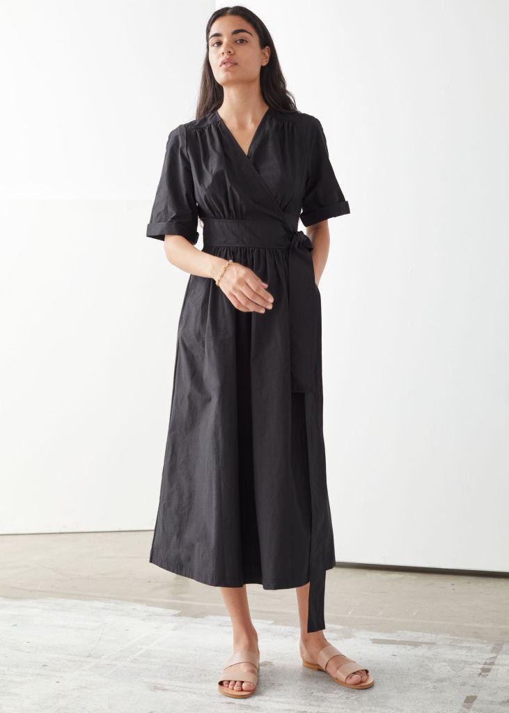 & Other Stories Voluminous Wrap Midi Dress £120