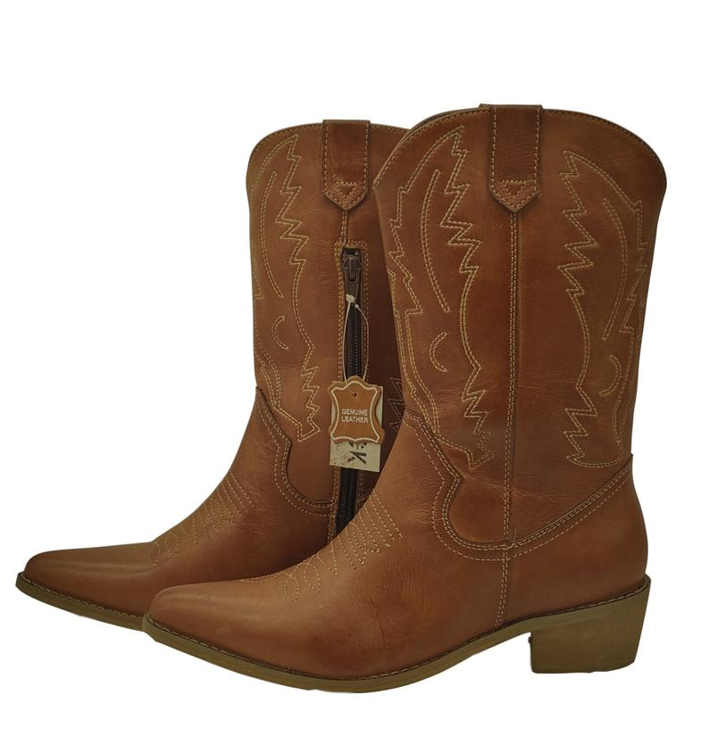 RebelCollections Leather Boots Cowboy Western Style £44.99+