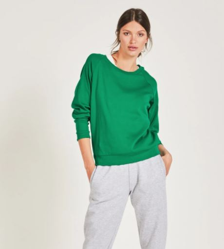 Hush Long sleeve cotton top jolly green £30