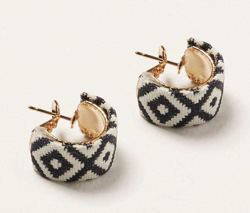 Oliver Bonas Woven Fabric Hoop Earrings small £12.50