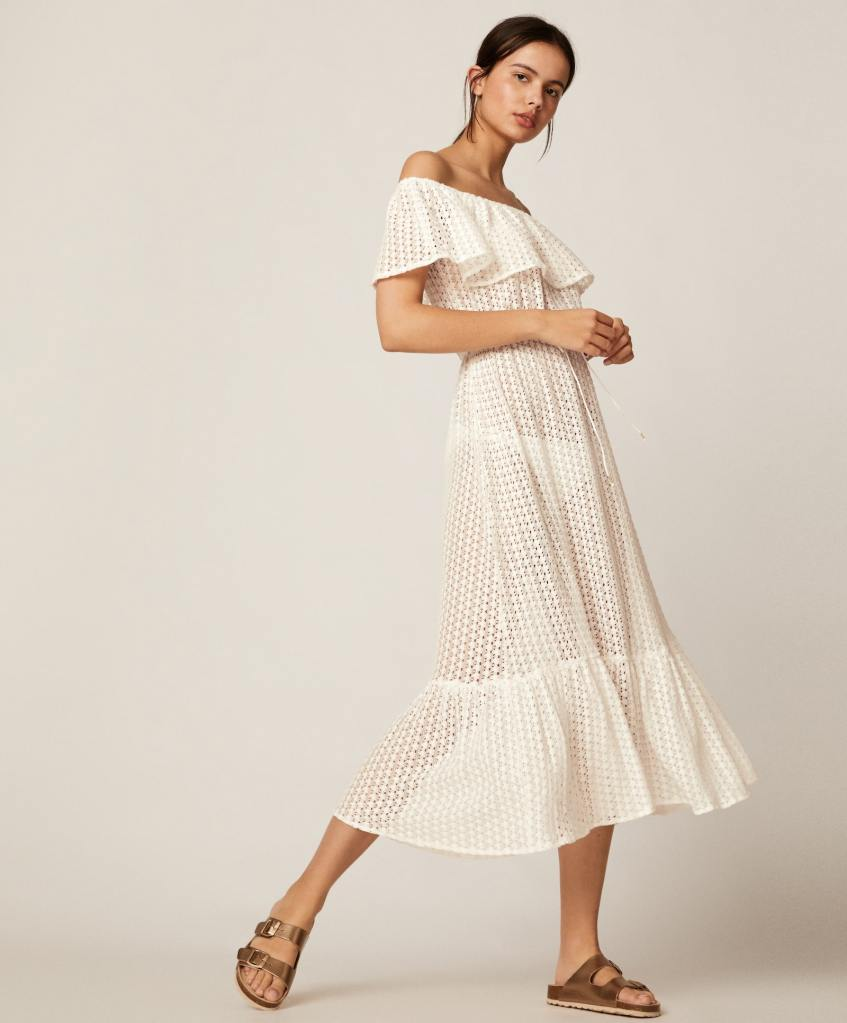 Oysho Off the shoulder Crotchet dress £35