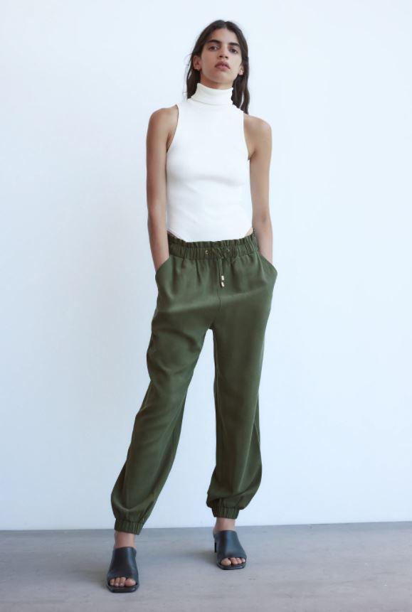 Zara Paperbag Jogger Trousers £25.99