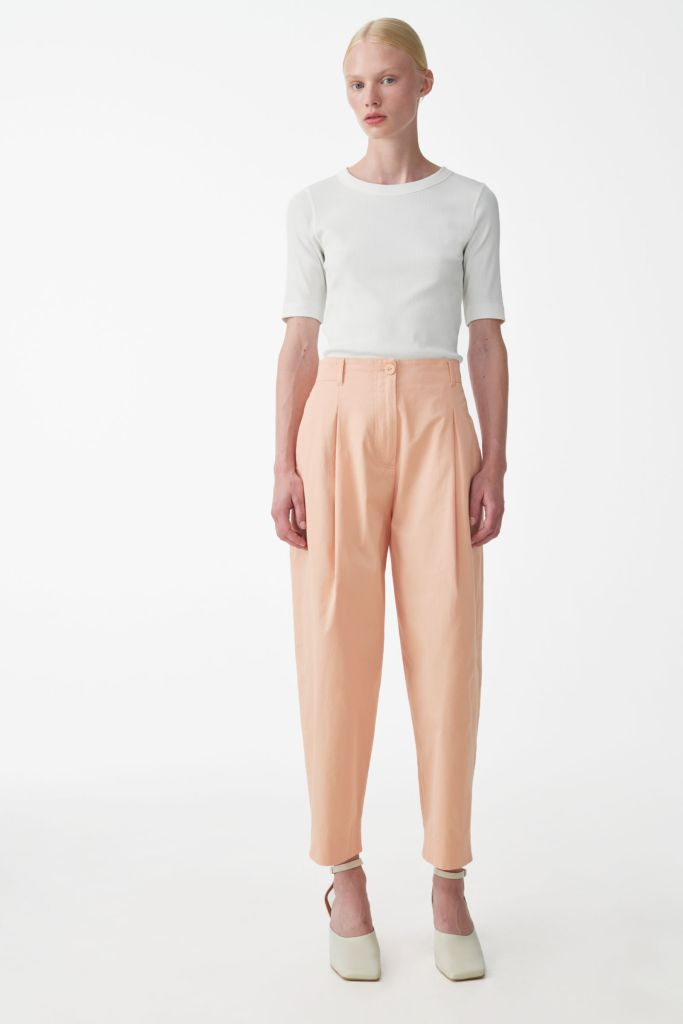 Cos Rounded Cotton Trousers £34.50, were £69