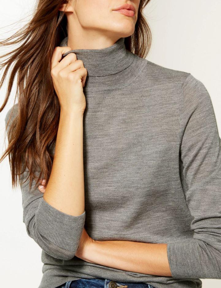 M&S Pure Merino Wool roll neck jumper £35