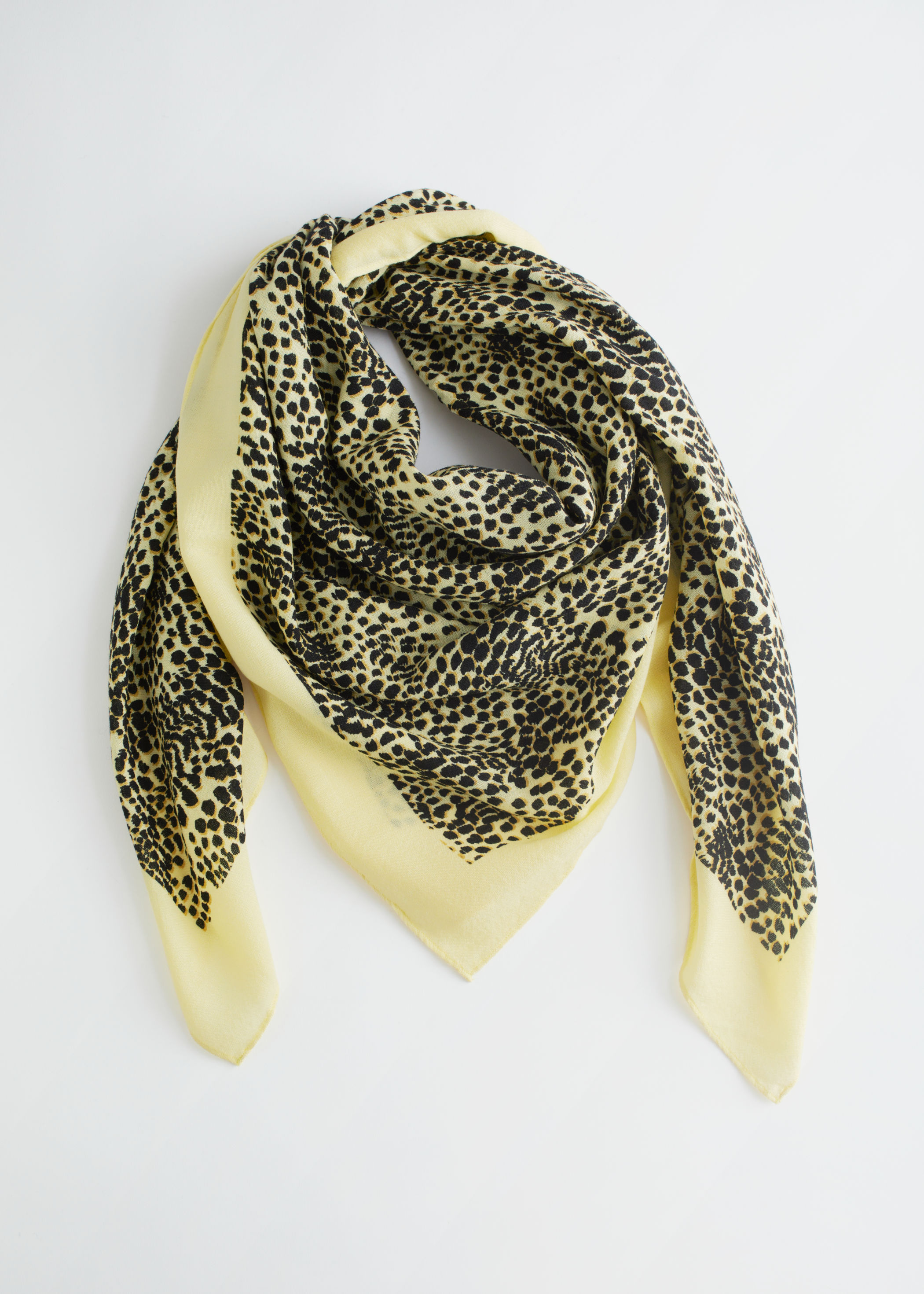 & Other Stories Leopard Print Light Wool Scarf £45