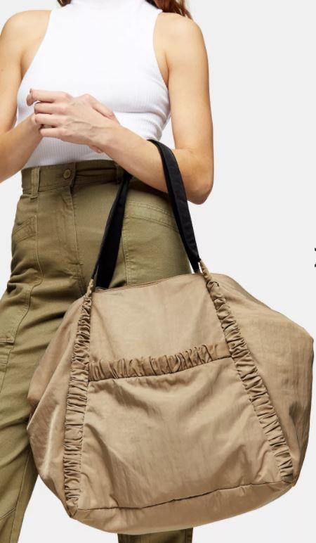 Topshop Stone Nylon Tote Bag £22