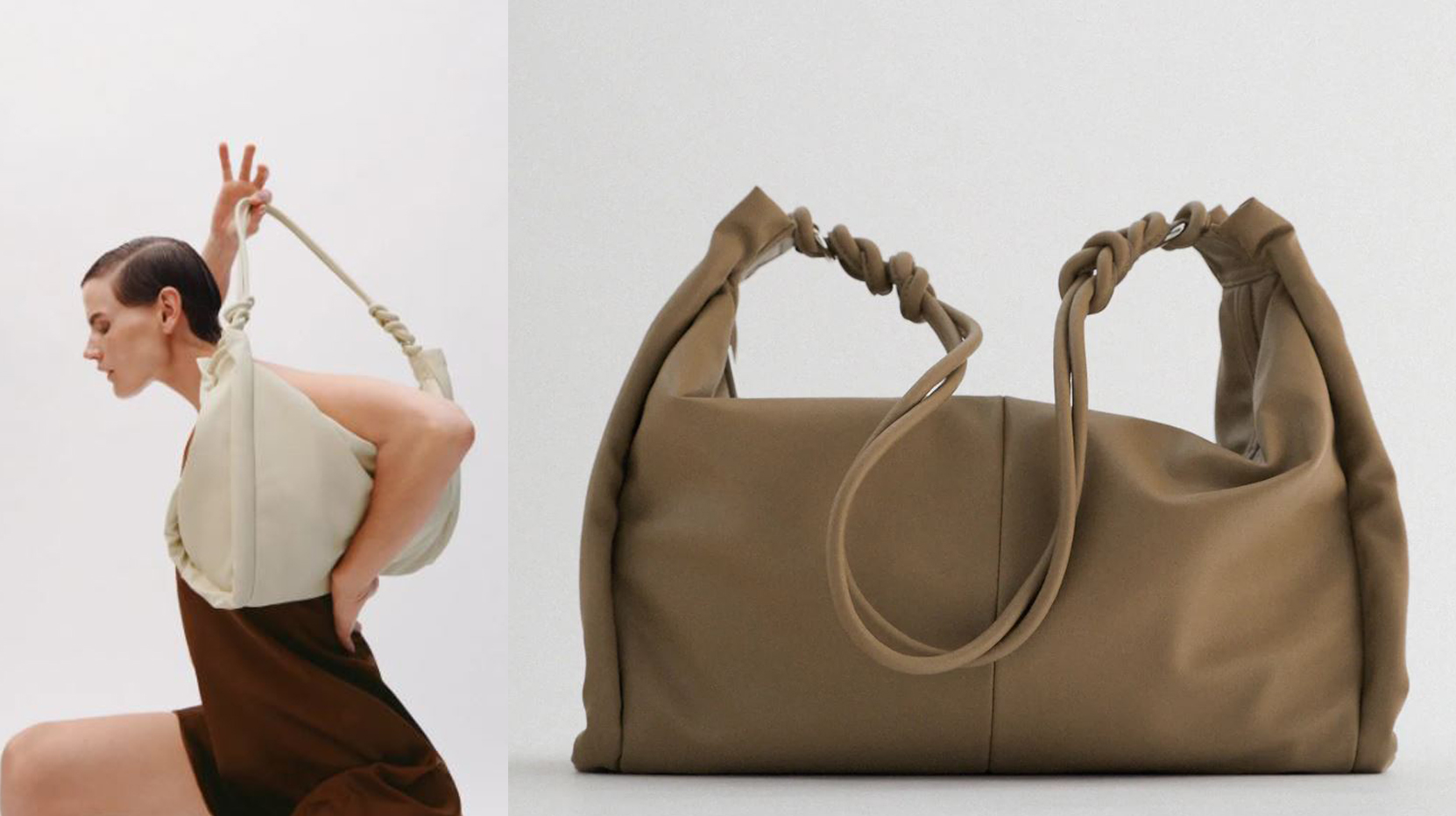 Zara Tote Bag with Gathered Side Detail £15.99