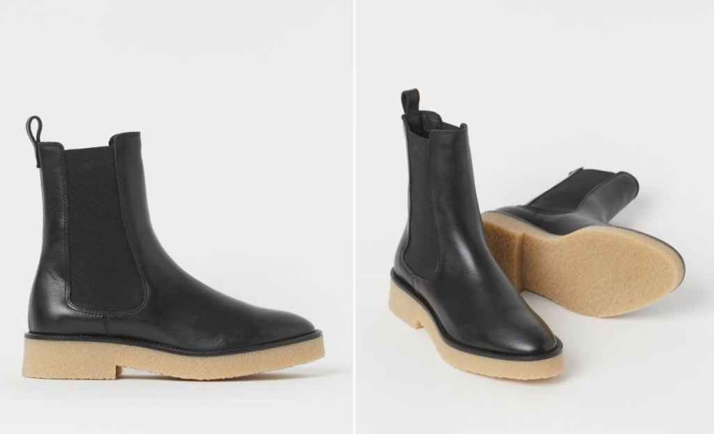 H&M Leather Chelsea Boots £79.99