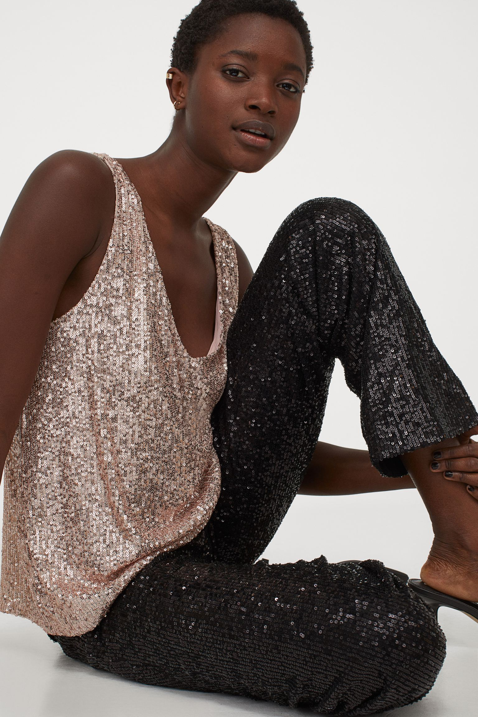 H&M Sequined sleeveless top £12.99