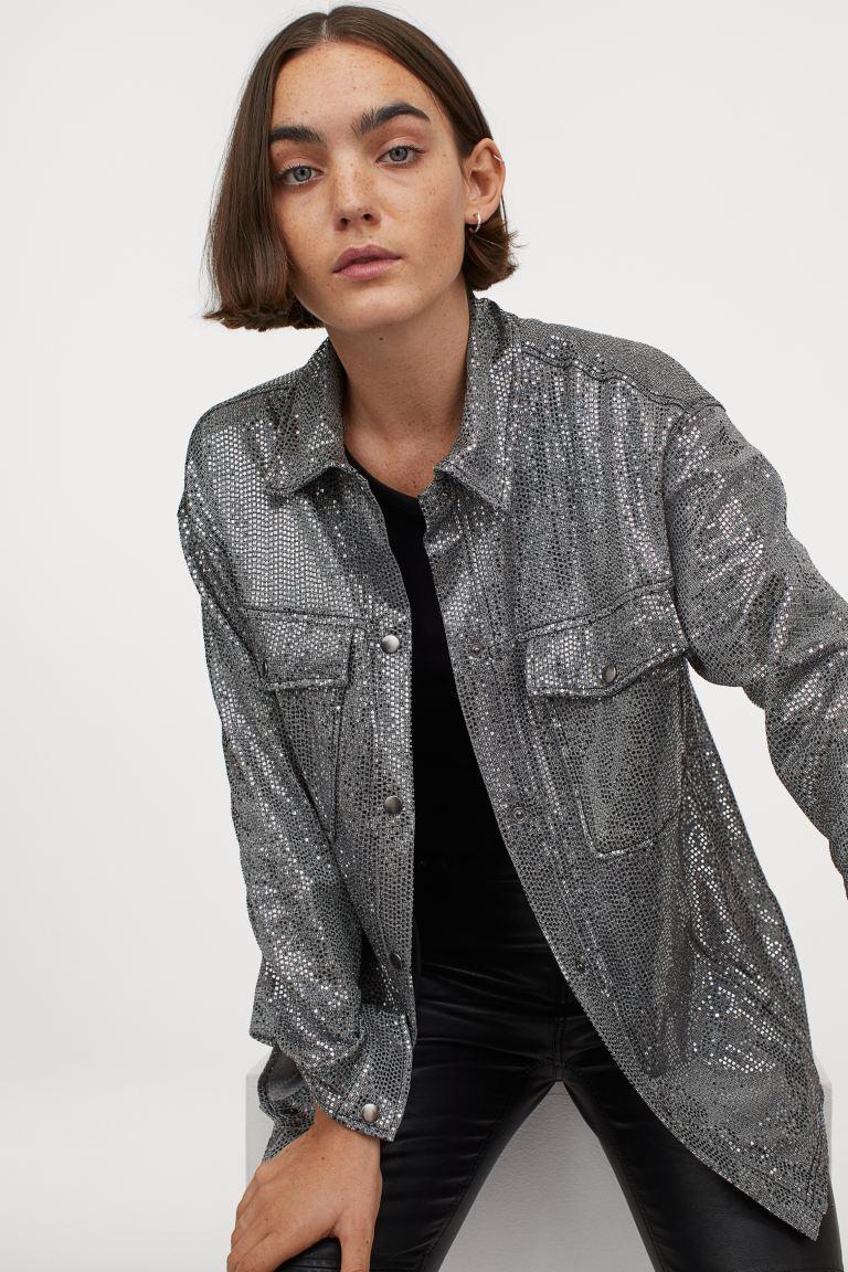 H&M Shimmering metallic shacket £39.99