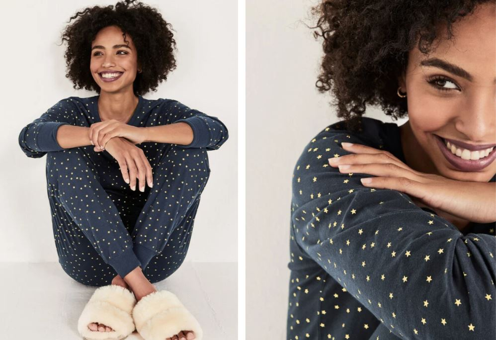 Hush Klara Printed Jersey Pyjamas £55