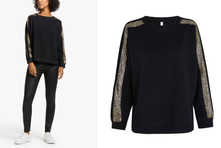 John Lewis & Partners AND OR Mila Leopard Print Sleeve Sweatshirt £55