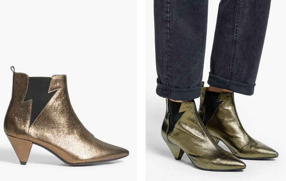 John Lewis & Partners AndOr Robbin Leather Lightening Bolt Ankle Boots £119