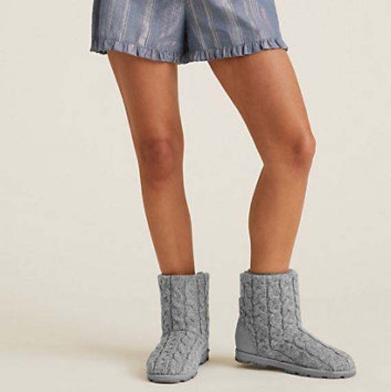M&S Cable Knit Cleated Sole Slipper Boot £19.50